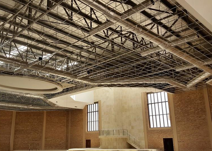 Church of the Holy Ghost – AC duct installation